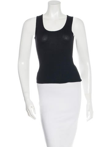 Oscar de la Renta Sleeveless Cashmere Top w/ Tags None