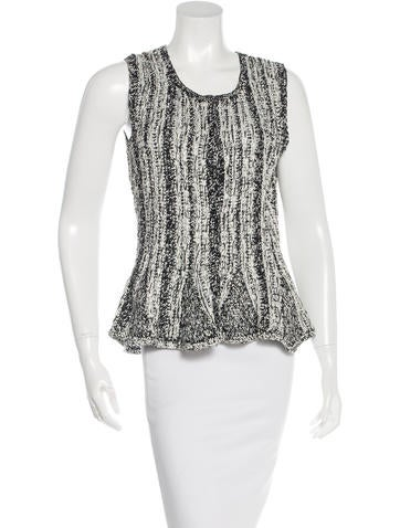 Oscar de la Renta Knitted Silk Top