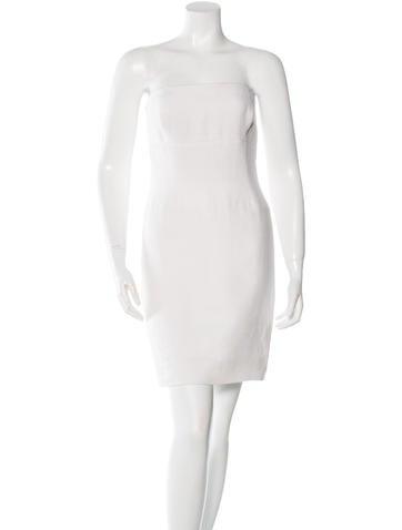Oscar de la Renta Linen Mini Dress