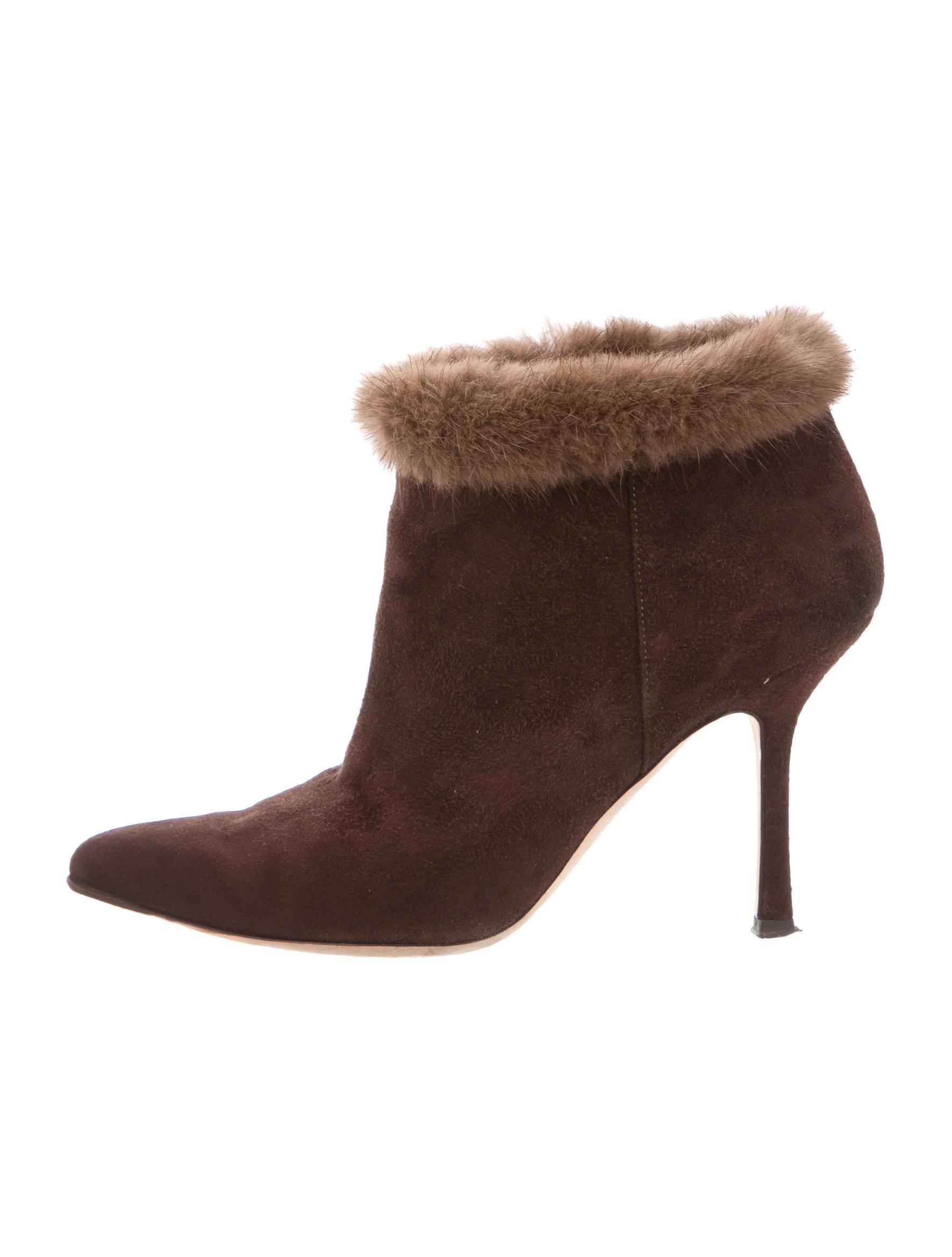 Oscar de la Renta Suede Fur-Trimmed Boots extremely discount best yw4dVhp