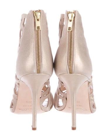 Laser Cut Ankle Boots