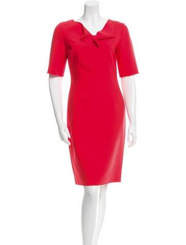 Oscar de la Renta Resort 2015 Wool Sheath Dress