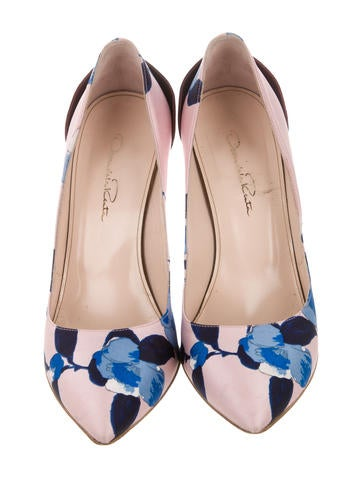 Canvas Floral Pumps