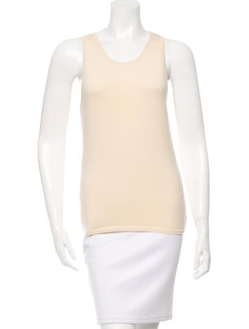 Oscar de la Renta Knit Sleeveless Top None