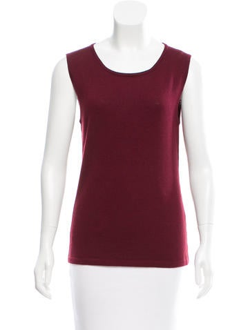 Oscar de la Renta Wool Sleeveless Top w/ Tags None