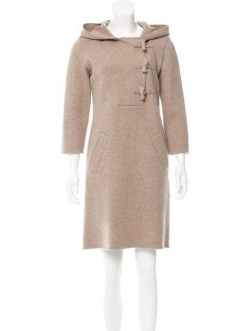 Oscar de la Renta Knee-Length Long Sleeve Dress