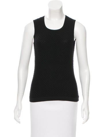 Oscar de la Renta Wool Sleeveless Top None