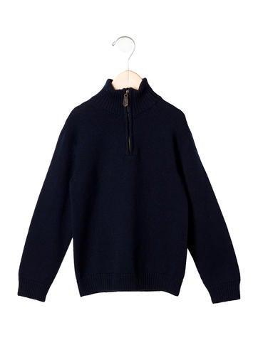 Oscar de la Renta Boys' Half- Zip Wool Sweater w/ Tags None