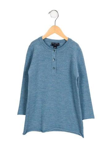 Oscar de la Renta Girls' Wool Sweater Dress w/ Tags None