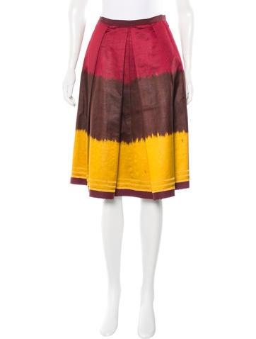 Oscar de la Renta Dip-Dye A-Line Skirt