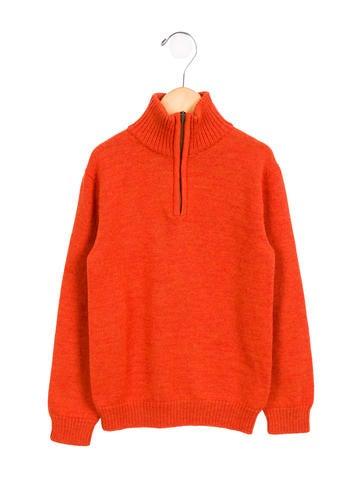 Oscar de la Renta Boys' Wool Long Sleeve Sweater None