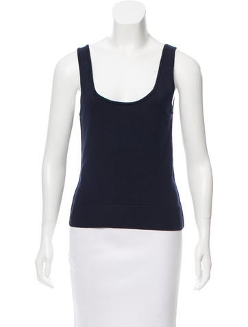 Oscar de la Renta Sleeveless Pullover Knit Top None