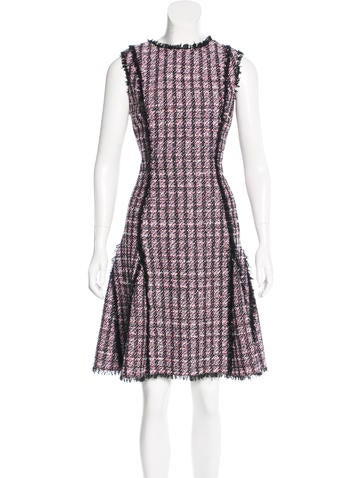 Oscar de la Renta Resort 2017 Tweed Dress