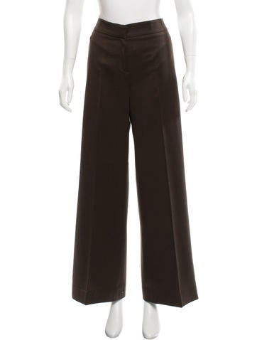 Oscar de la Renta Wool Wide-Leg Pants