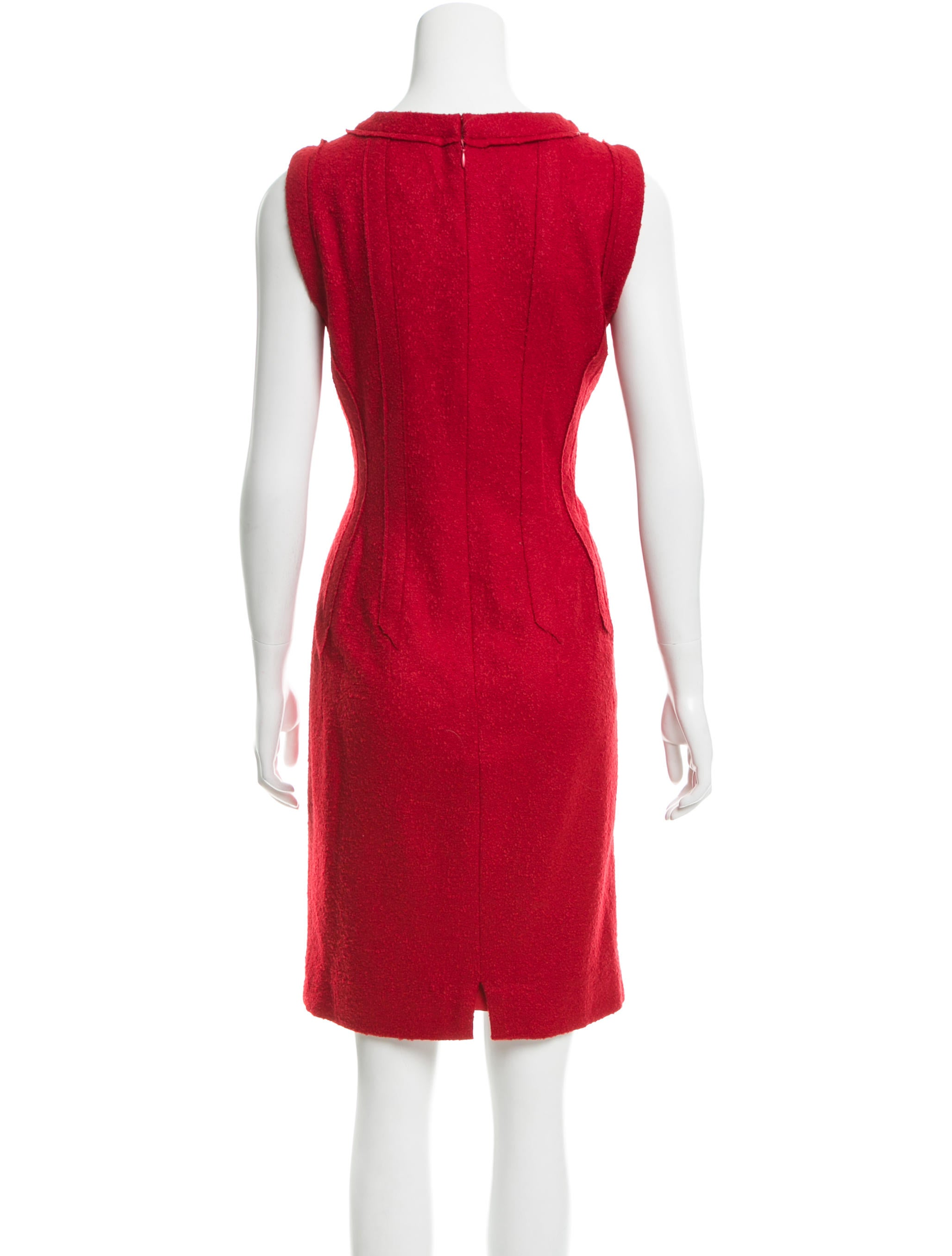 Oscar de la Renta Wool Blend Dress - Clothing