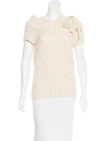Oscar de la Renta Cable-Knit Cashmere Sweater None