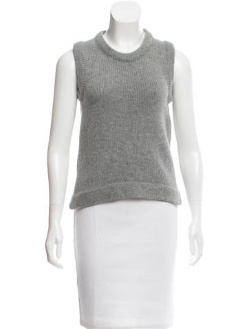 Oscar de la Renta Cashmere Knit Top None