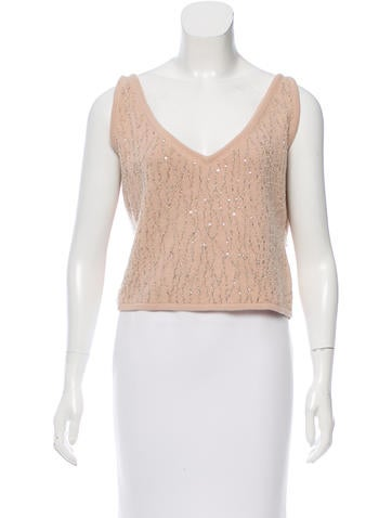 Oscar de la Renta Beaded Cashmere Sweater None