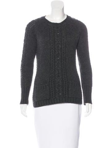 Oscar de la Renta Rib Knit Cashmere Sweater None