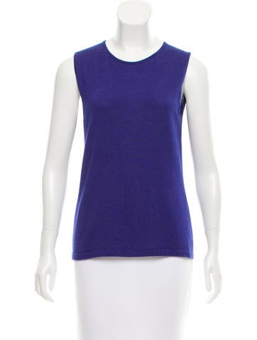 Oscar de la Renta Cashmere & Silk-Blend Top None