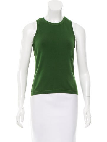 Oscar de la Renta Sleeveless Fine Knit Top None