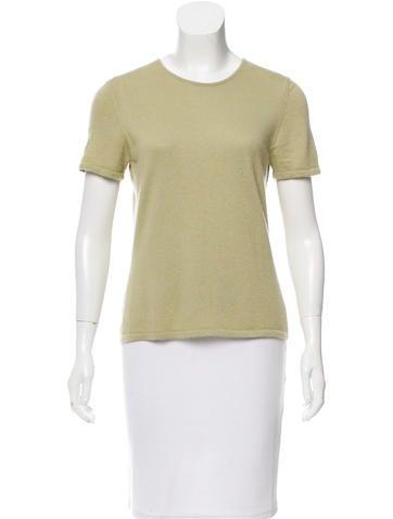 Oscar de la Renta Cashmere & Silk-Blend Knit Top None
