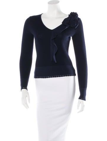 Oscar de la Renta Wool & Cashmere-Blend Cropped Sweater None