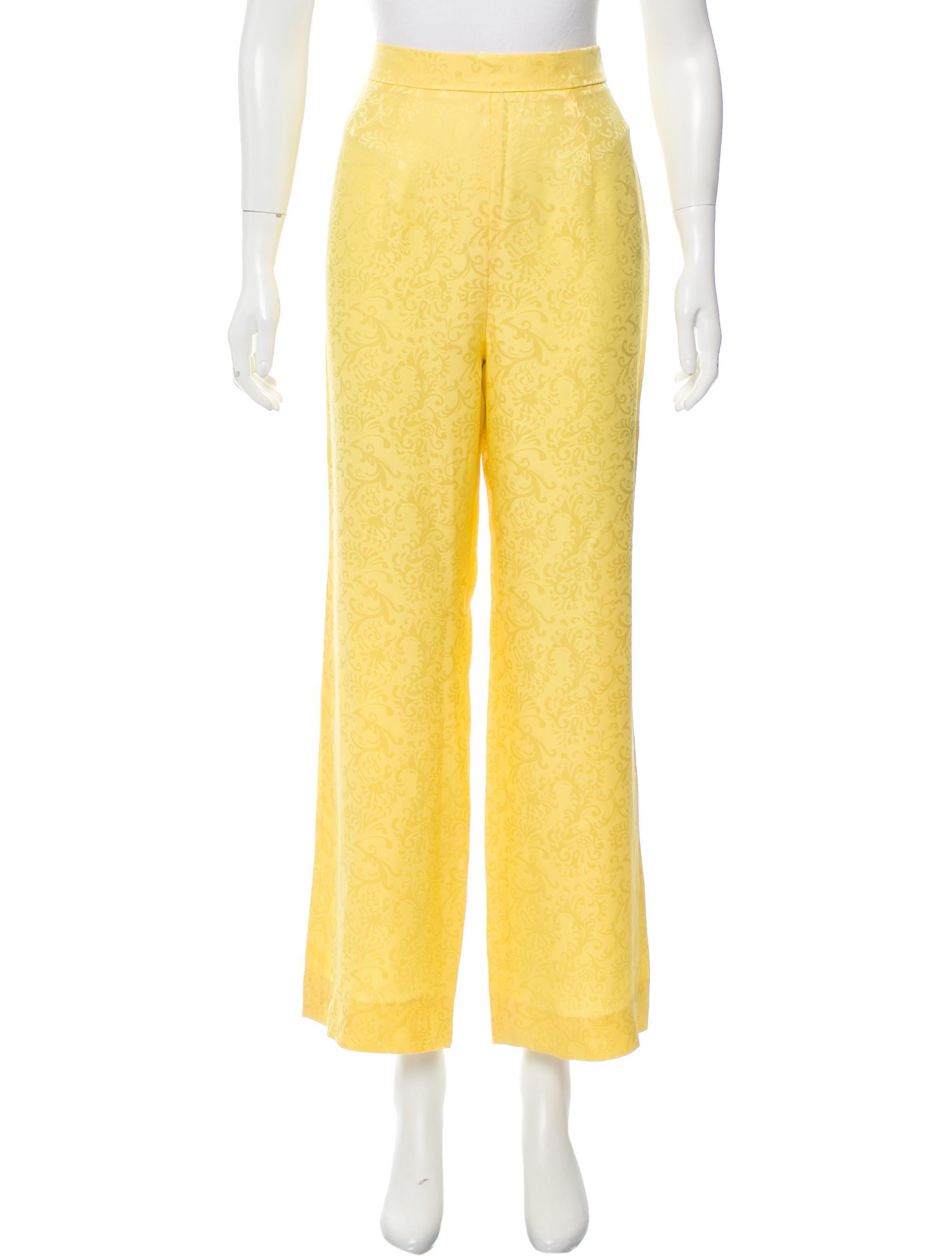 Oscar de la renta patterned silk pants clothing for Oscar de la renta candles