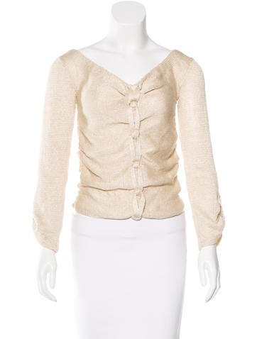 Oscar de la Renta Knotted Silk Sweater None