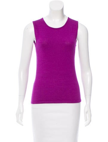 Oscar de la Renta Cashmere & Silk-Blend Knit Top None