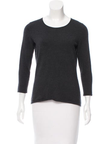 Oscar de la Renta Long Sleeve Knit Top None