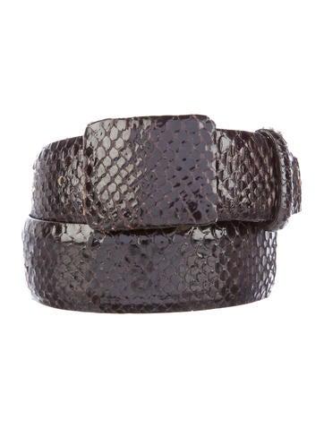 Oscar de la Renta Glazed Python Belt