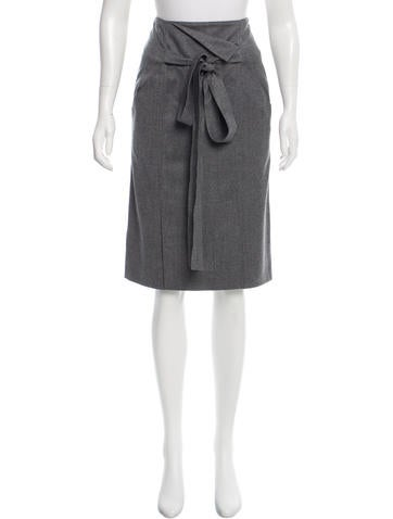 Oscar de la Renta Wool Skirt None