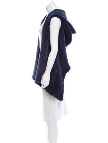 Mink Draped Vest w/ Tags