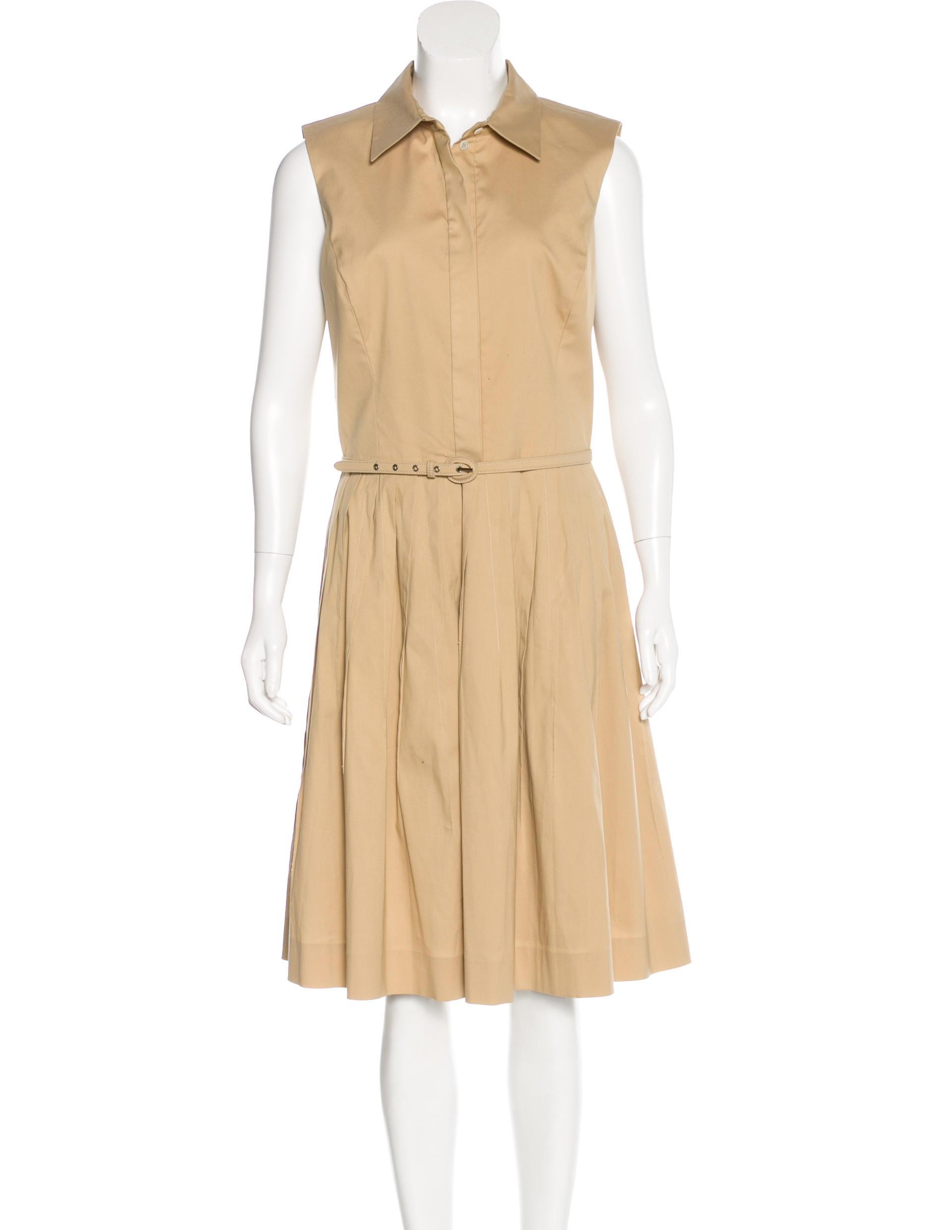 Oscar de la renta pleated sleeveless dress clothing for Oscar de la renta candles
