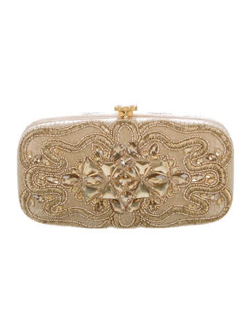 Beaded and Jeweled Embellished Clutch