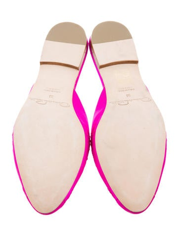 Satin Cutout Mules