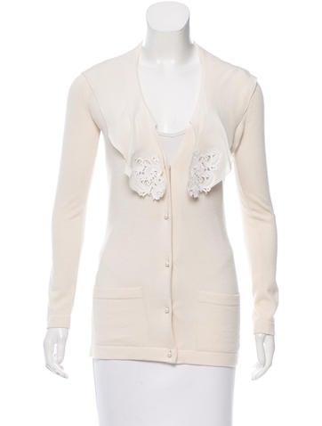 Oscar de la Renta Cashmere & Silk-Blend Knit Cardigan None