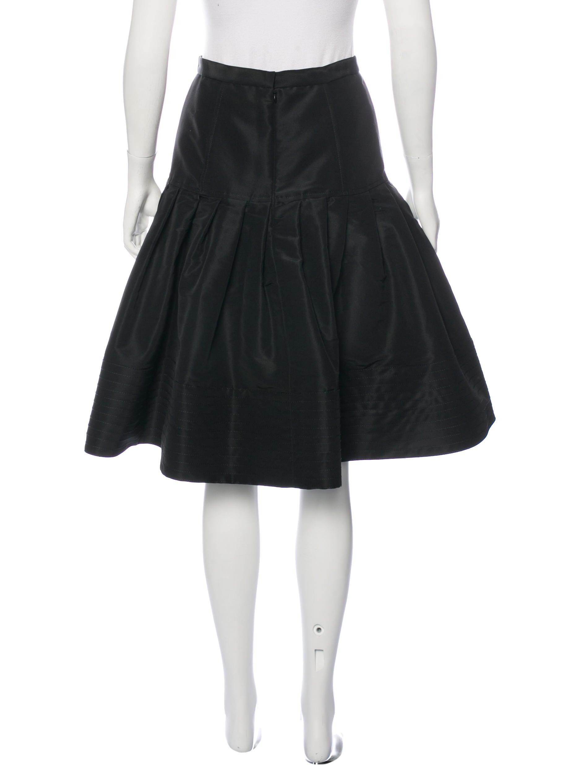 oscar de la renta silk a line skirt clothing osc50865