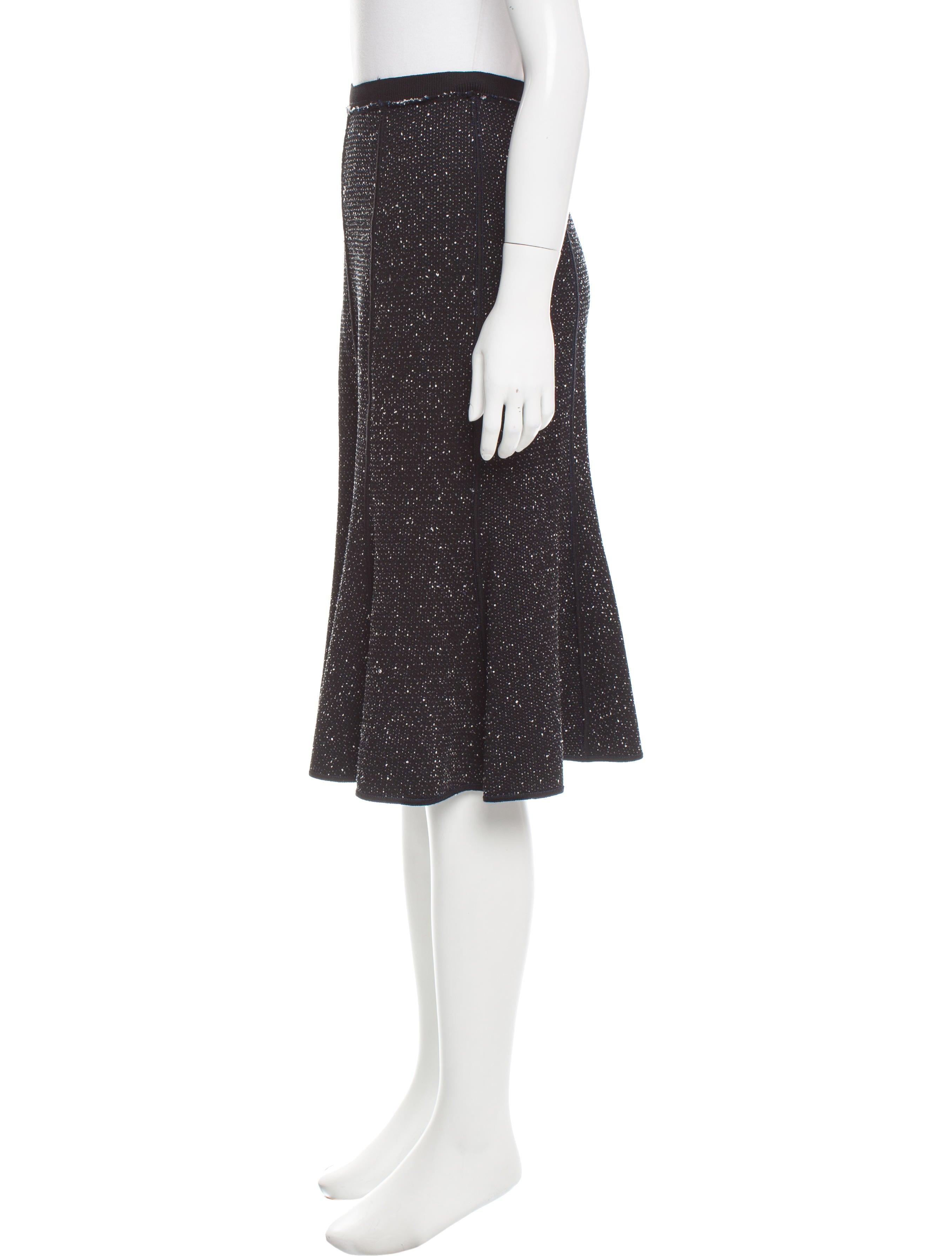 oscar de la renta flared knee length skirt clothing