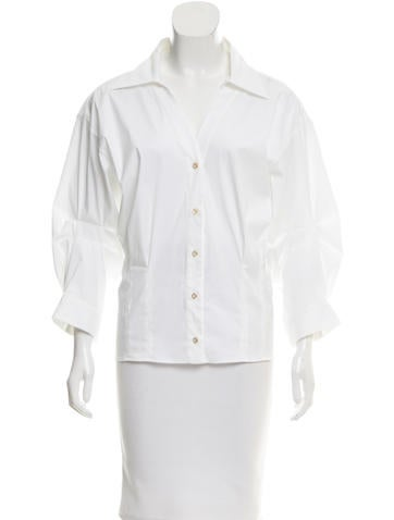 2017 Collared Button-Up Top w/ Tags