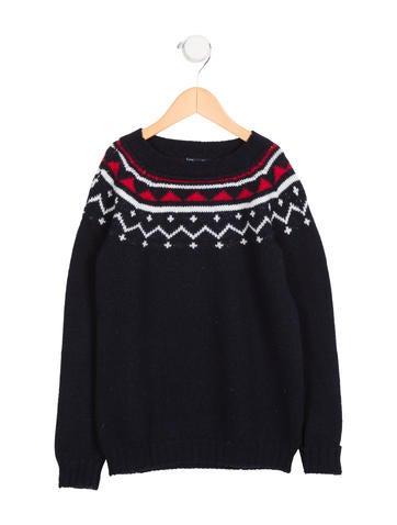 Oscar de la Renta Boys' Patterned Wool Sweater None
