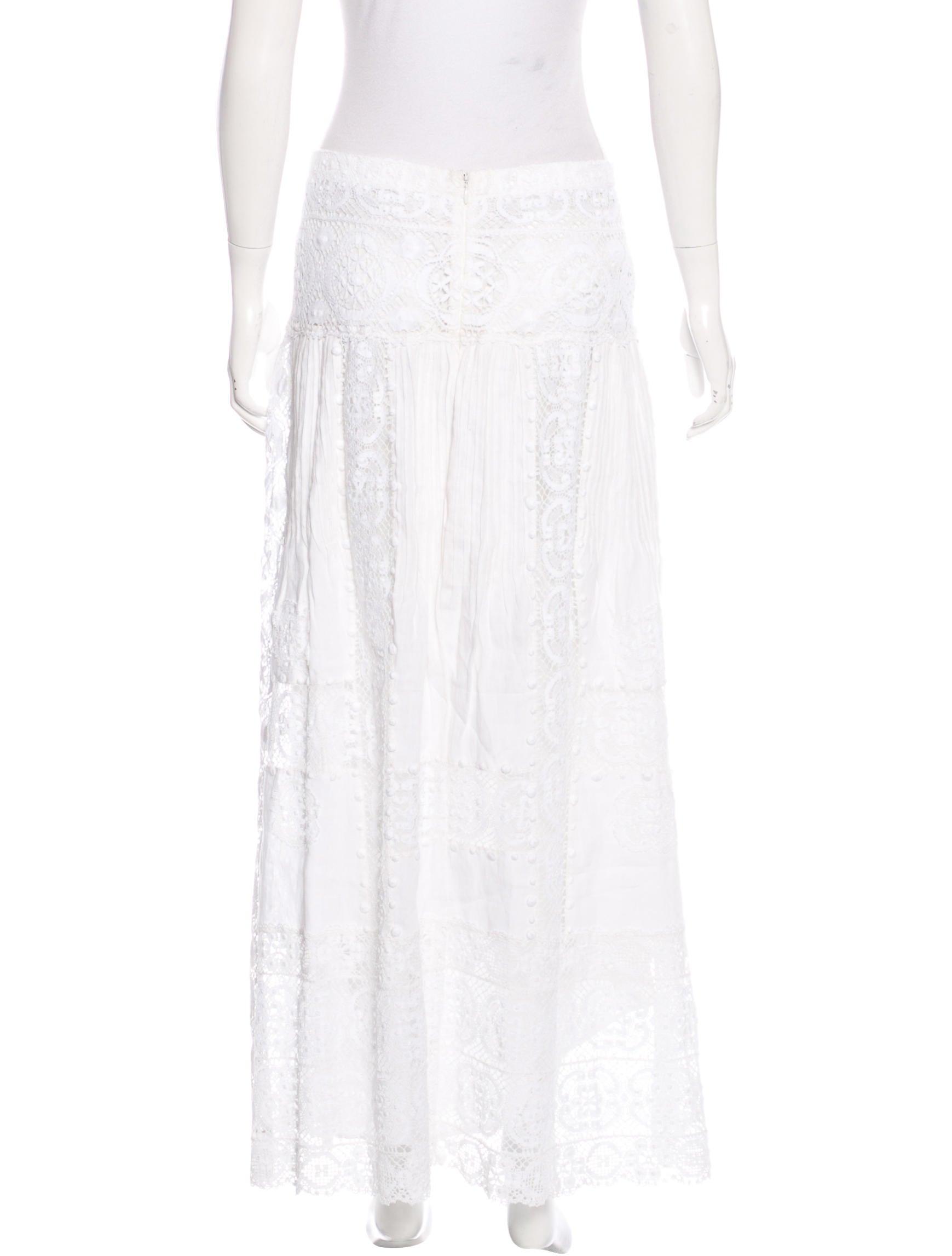 oscar de la renta crochet maxi skirt clothing osc53032