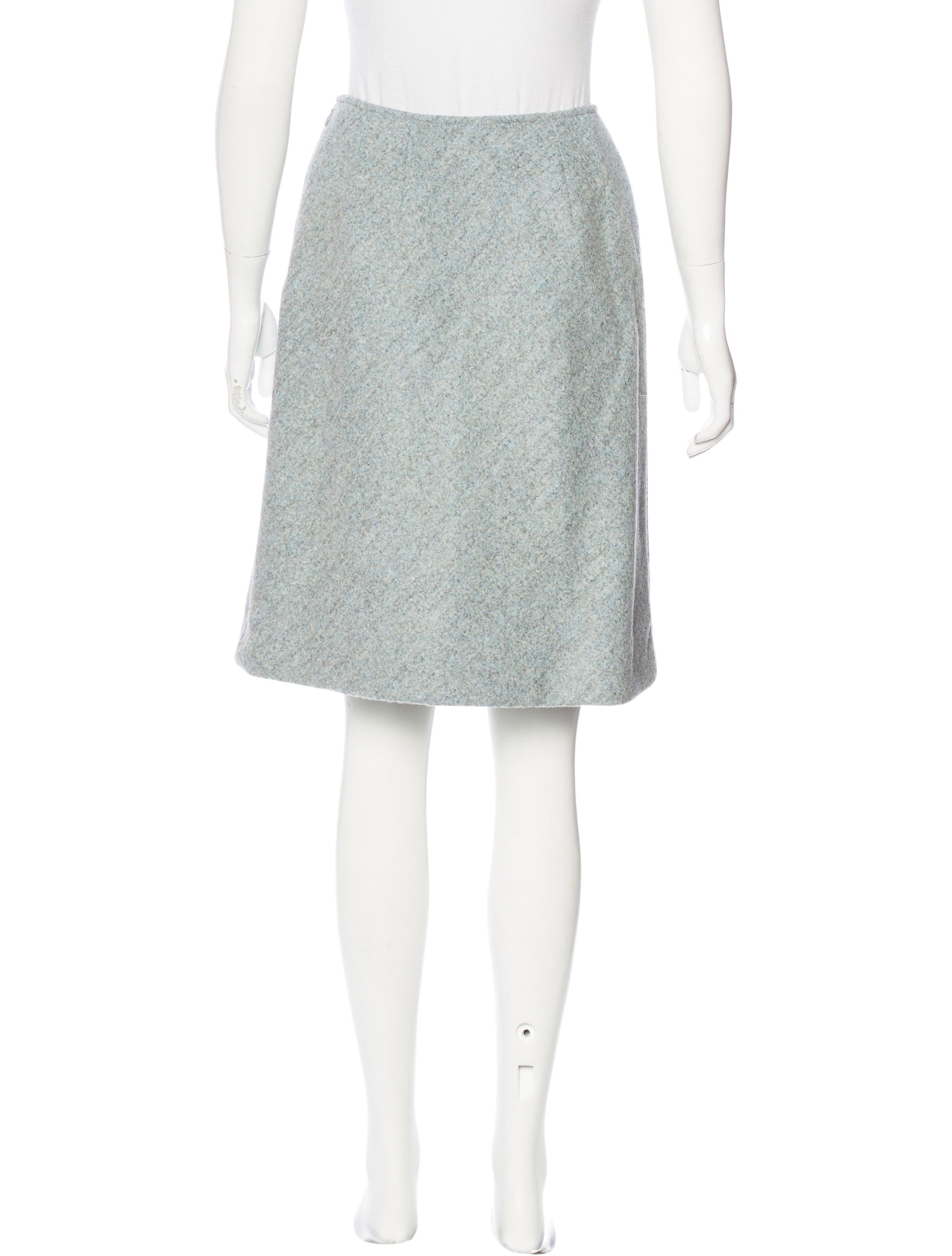 oscar de la renta wool knee length skirt clothing