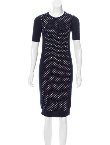 Oscar de la Renta Embellished Sweater Dress None