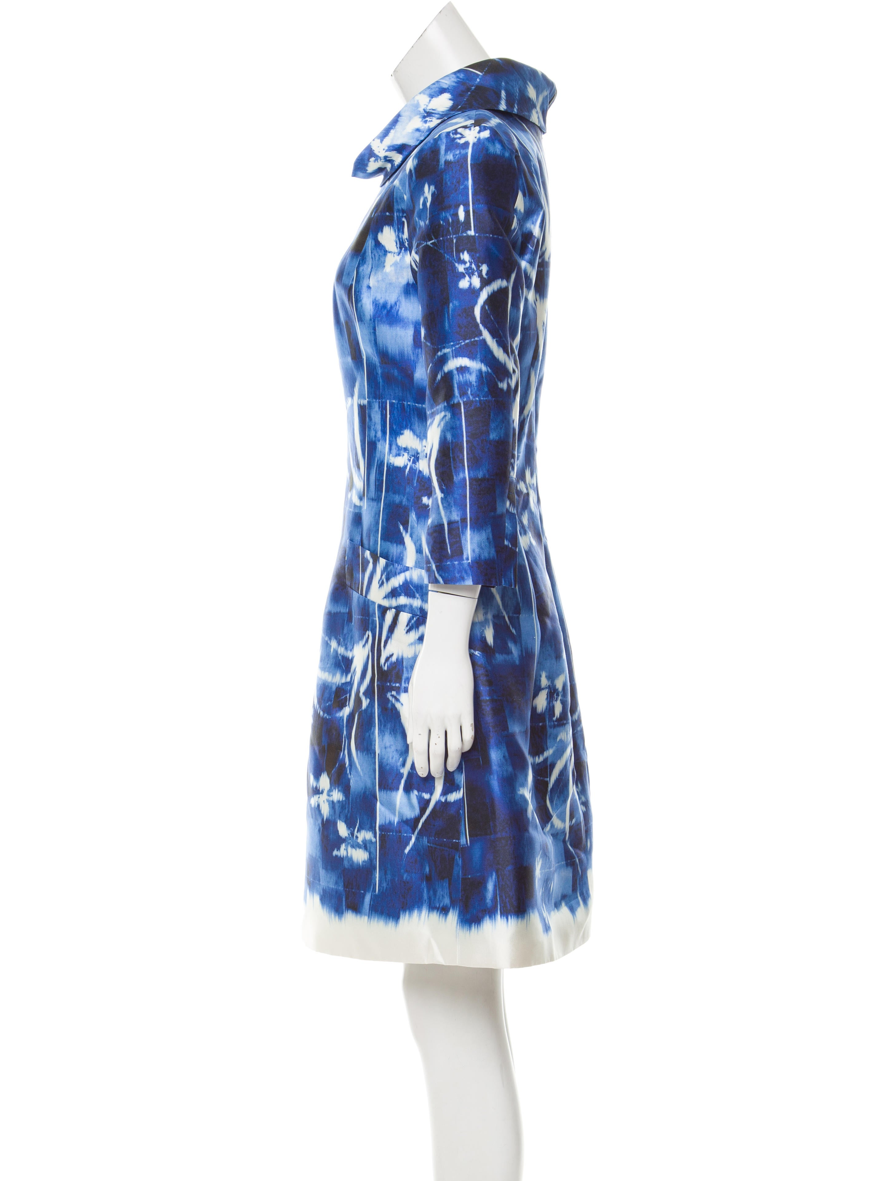Oscar de la renta silk blend abstract dress clothing for Oscar de la renta candles