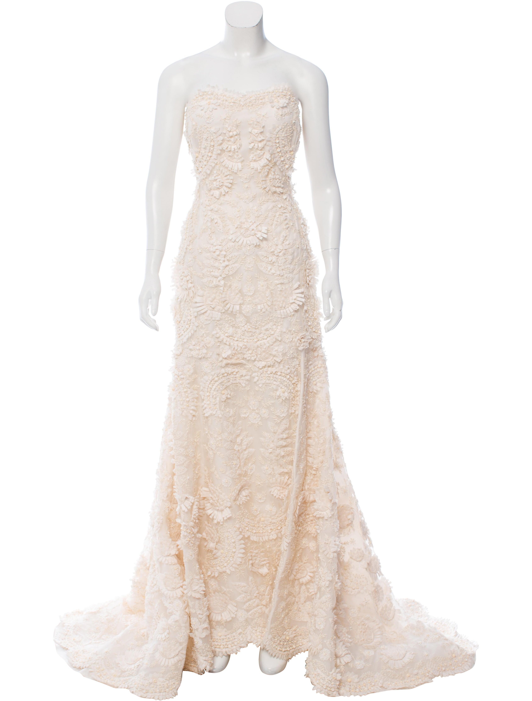 Oscar de la renta embellished wedding gown clothing for Oscar de la renta candles