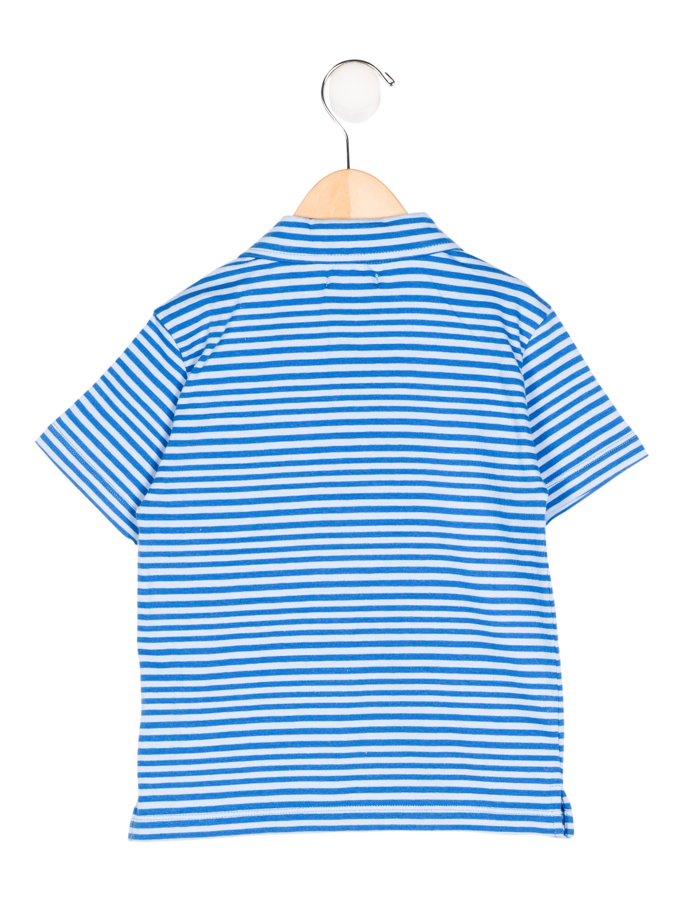 Oscar de la renta boys 39 striped polo shirt w tags boys for Boys striped polo shirts