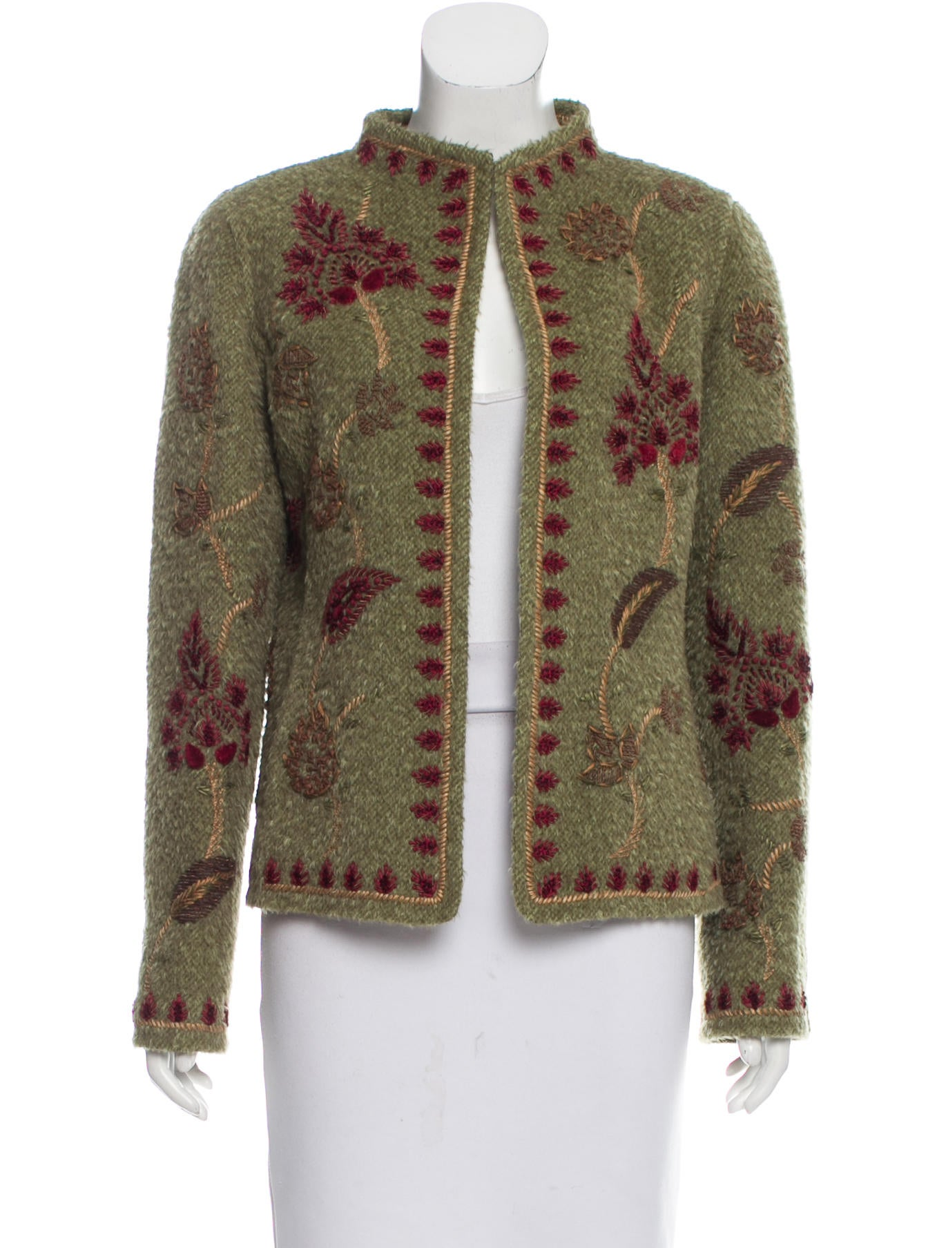 oscar de la renta vintage wool blend jacket clothing