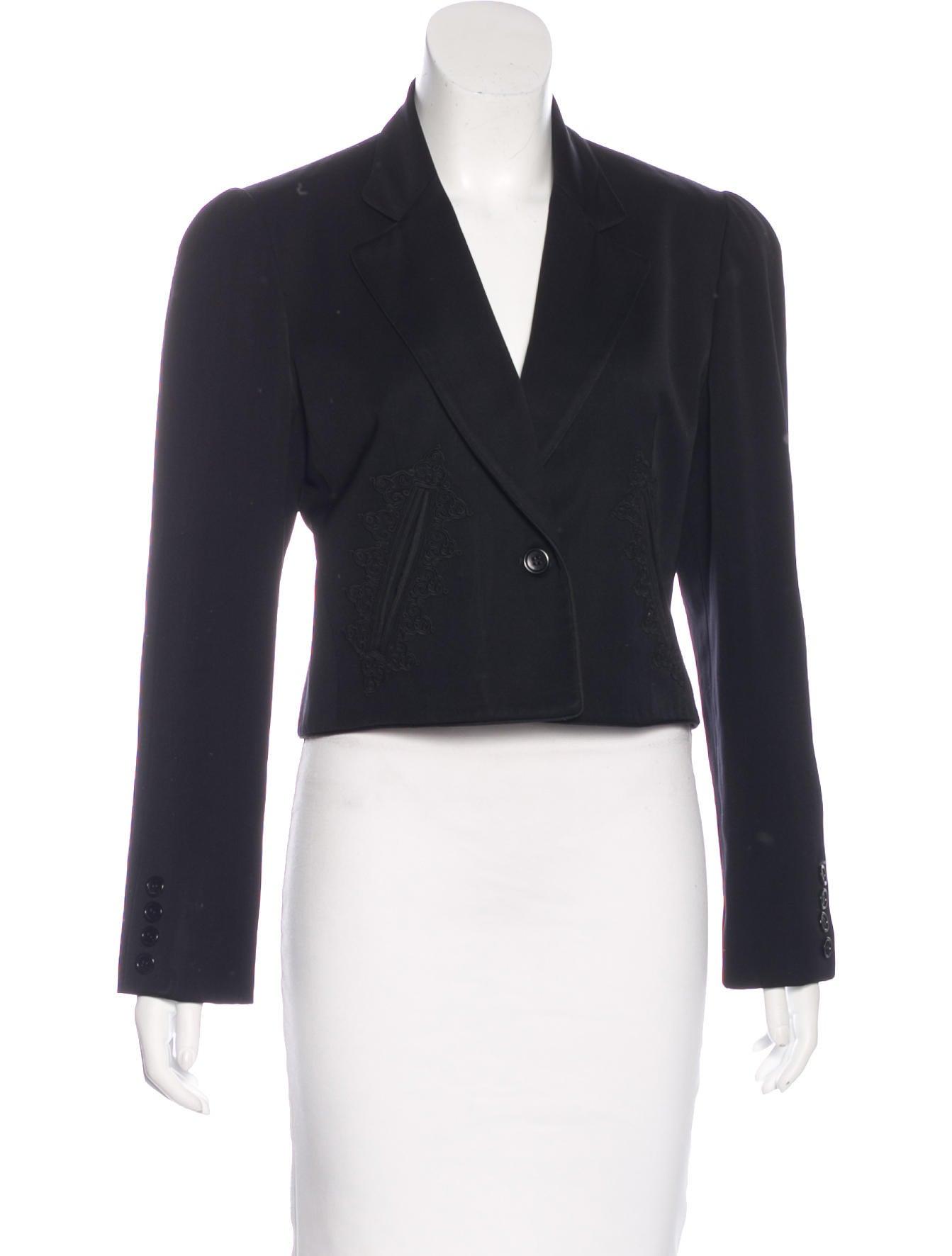 Oscar de la renta vintage embroidered blazer clothing